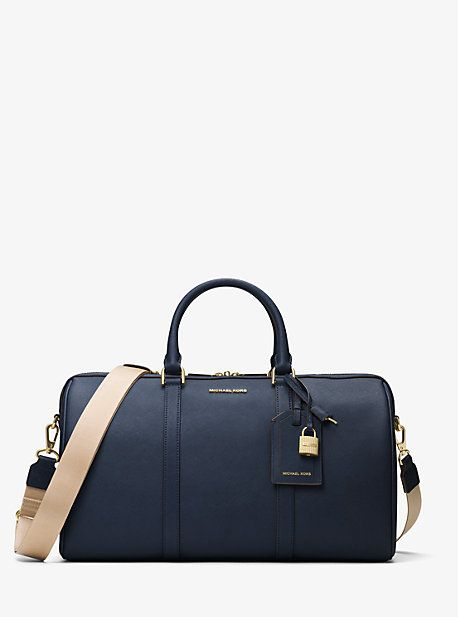 35ef9969e65a ... purses, backpacks & luggage on the official Michael Kors site. Jet Set  Travel Large Leather Weekender
