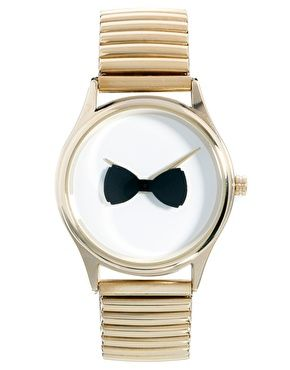 ASOS Rotating Bow Tie Watch Cute and priced at only $37.13