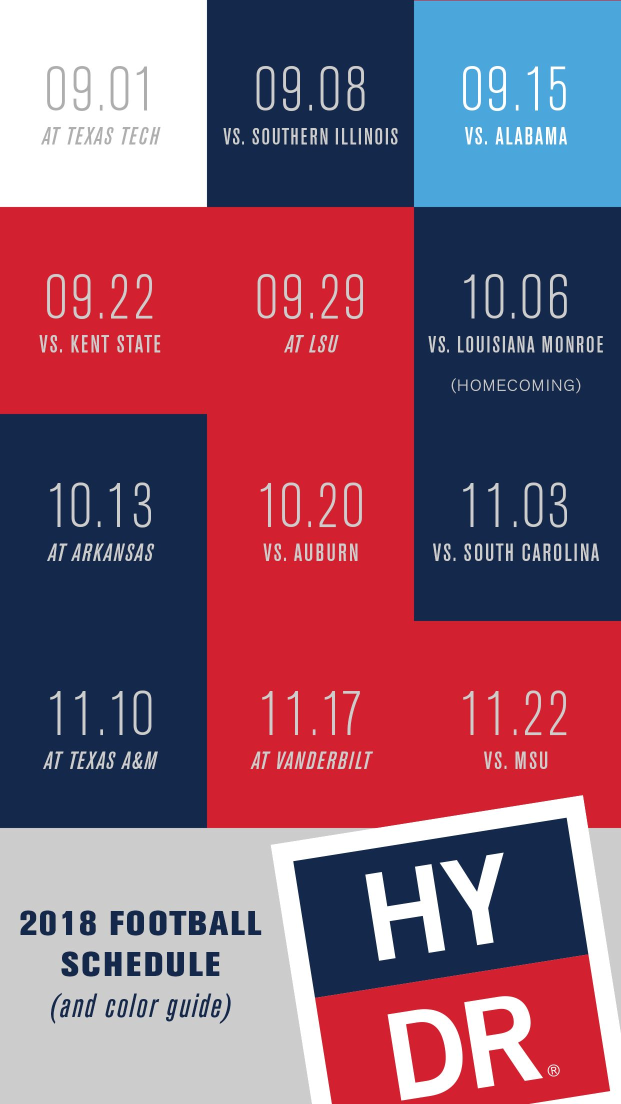 Ole Miss Schedule 2019 HYDR   Ole Miss Football 2018 Schedule and What to Wear Guide