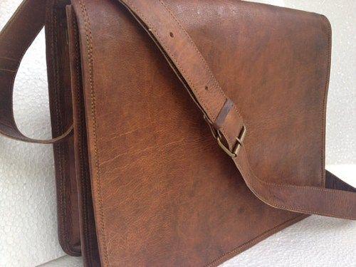 Leather Messenger Bag 16 Handmade Full Flap Cross Body