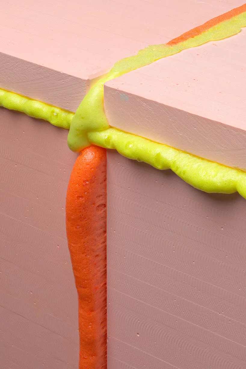 seoul based hitencho uses colored expanding foam to create 'pop series'