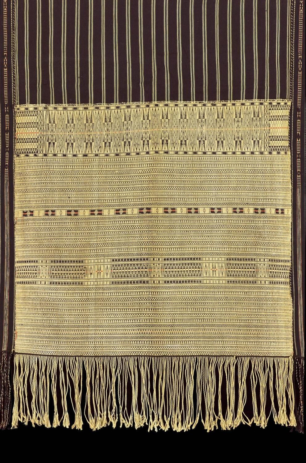 1950s 1960s Ulos Ragidup Ceremonial Shoulder Cloth From A