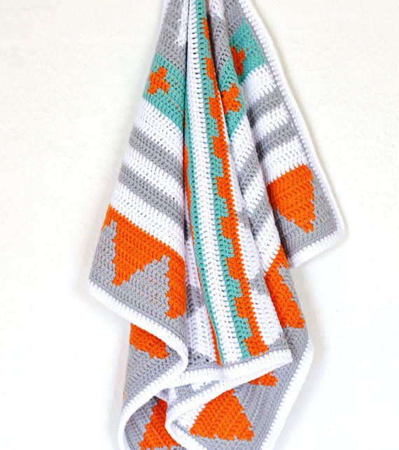 New Crochet Pattern! Easy Baby Blanket Native American Style Afghan ...