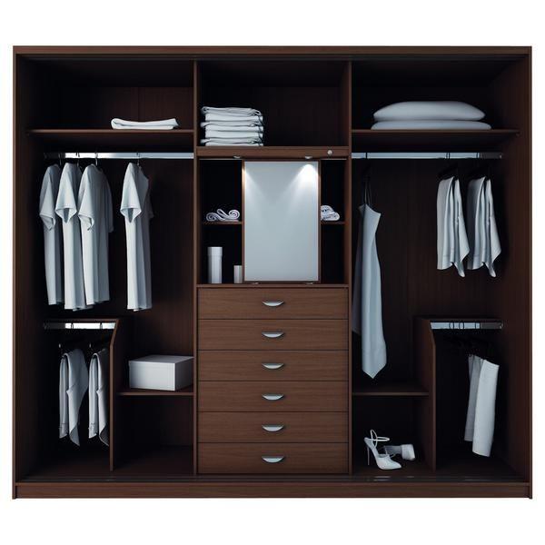 Manhattan Comfort Adrian 6-Drawer and 7 Shelf Sliding Door Wardrobe - Armoire Ikea Porte Coulissante
