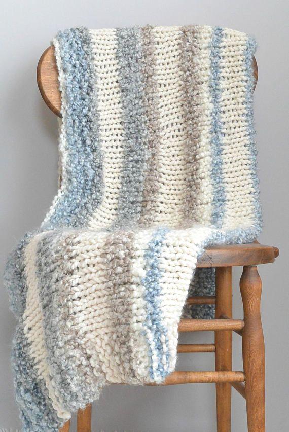 Small Beginner Knit Blanket Pattern Easy Knit Throw Blanket