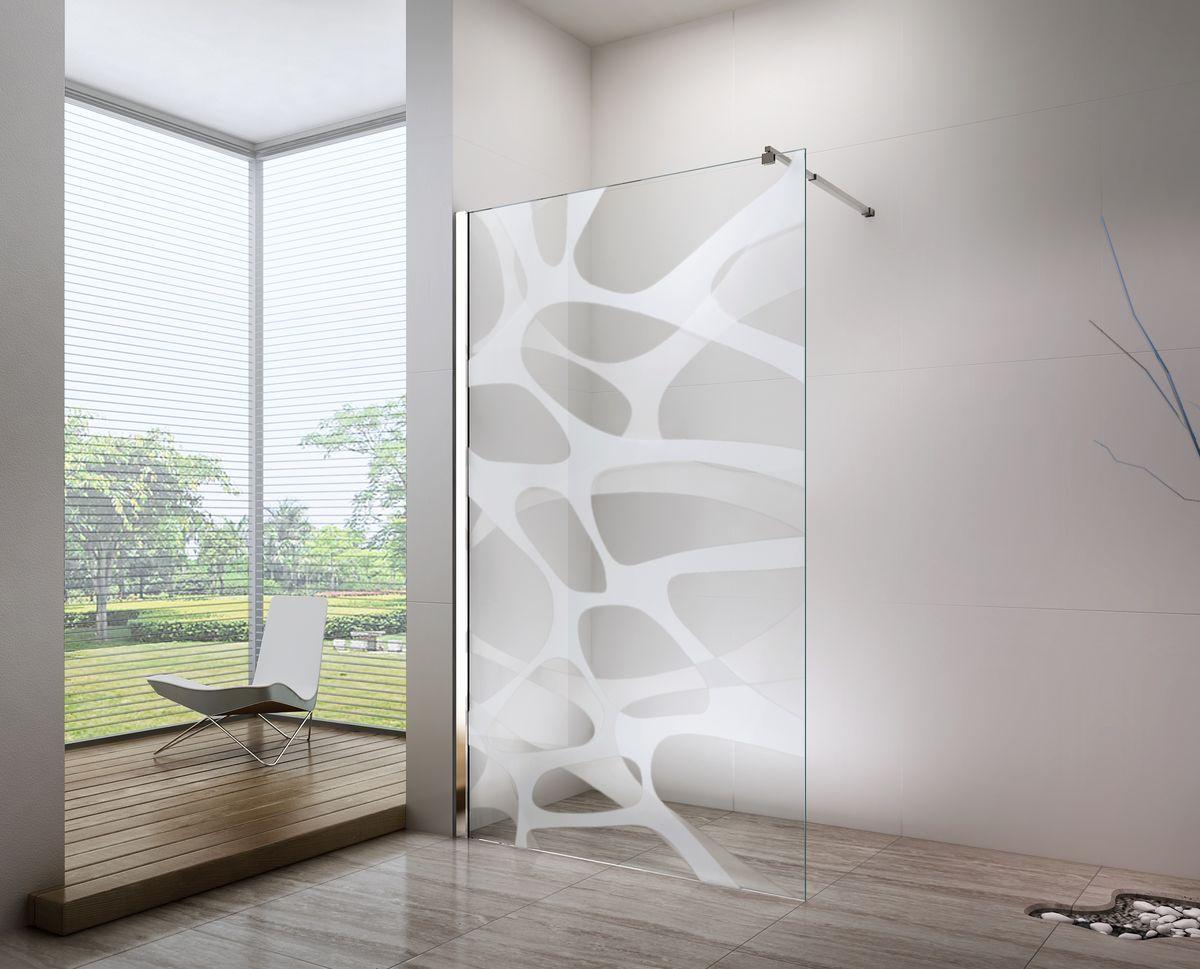 Duschabtrennung Walk In Nano Echtglas Ex101 Milchglas Muster Wave Breite Wahlbar Bild 1 Duschabtrennung Dusche Duschwand