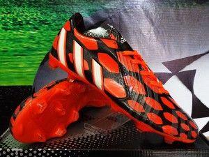 Sepatu Bola Adidas Predator Instinct Hitam Orange Grade Ori Jual