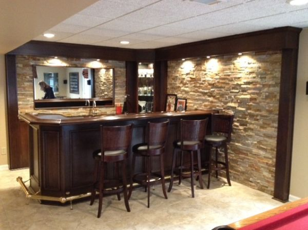 Beautiful Brassaccentsbasement Furniture Bar And Nice