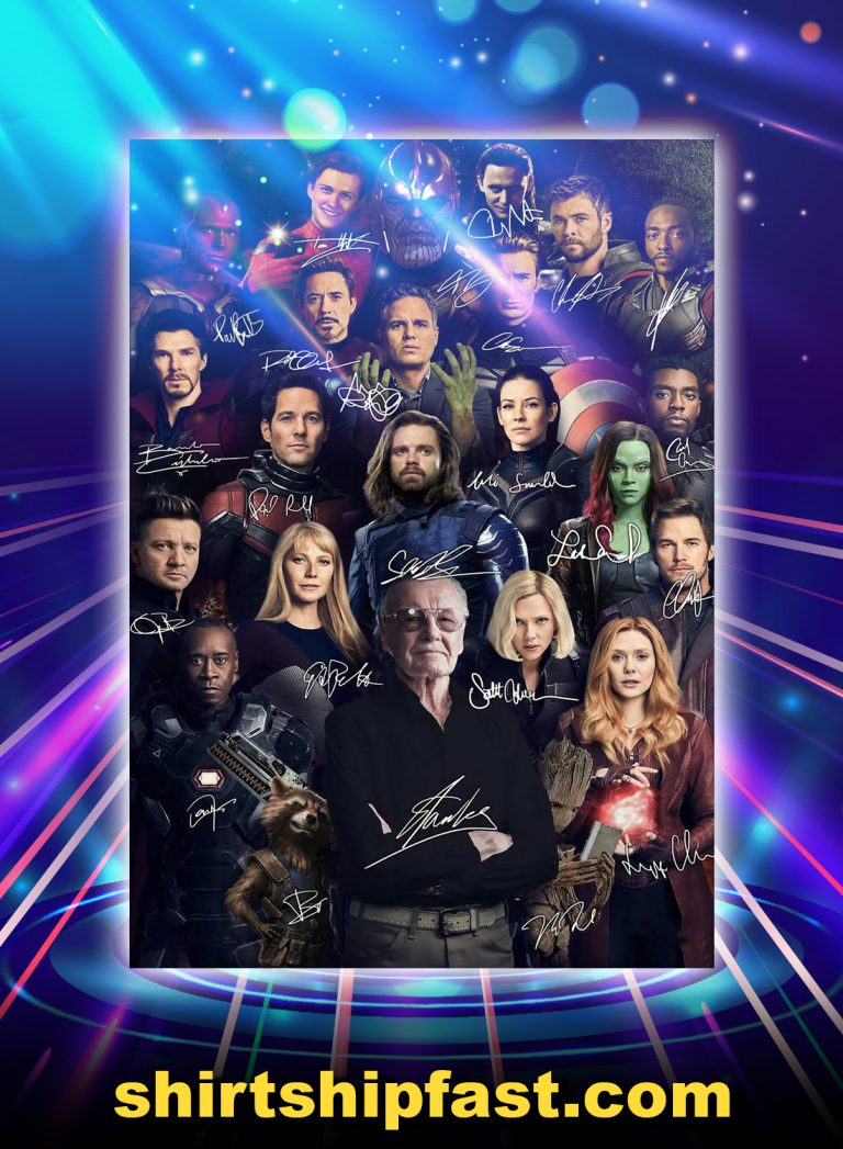 Stan Lee Avengers Signature Poster Avengers Stan Lee Stans