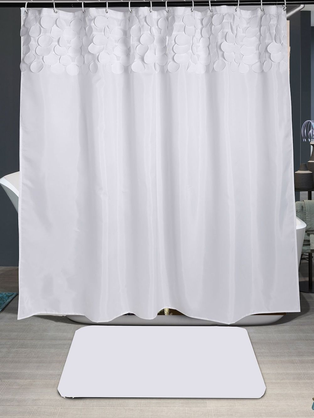 Round fringed embellished shower curtain pinterest rounding