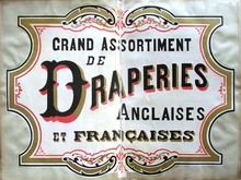 sign painter's pattern book, France