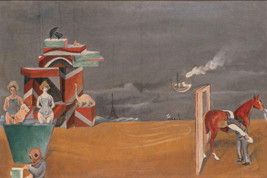 Max Ernst,  Horse Inspection (Inspizierung eines Pferdes), 1923.