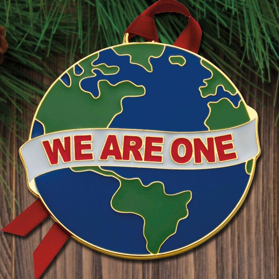 Wallace 2020 Dated Christmas Ornaments 2020 Wallace We Are One Goldplate & Enamel Ornament in 2020