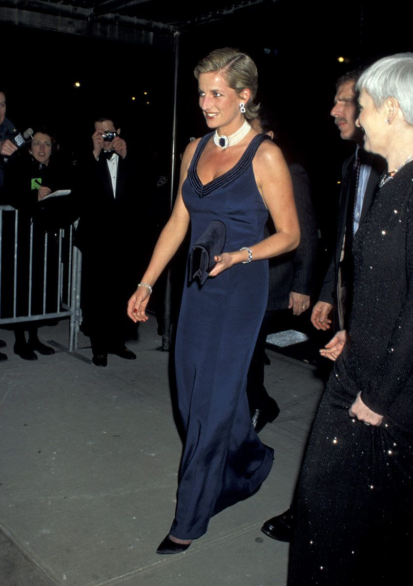 Princess Diana attends the Fashion Awards at the Lincoln Center ...
