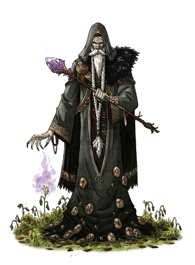Male Old Human Wizard Necromancer - Pathfinder PFRPG DND D&D