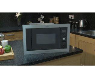 Aeg Mc1763e M Built In Standard Microwave Oven Stainless Steel Black Stainless Steel Oven Microwave Stainless Steel Microwave