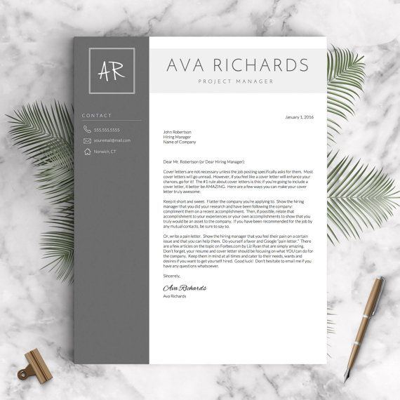 Modern Resume Template for Word and Pages 1 by LandedDesignStudio - functional resume template word