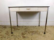 Vintage Sellers 1940s 50s Chrome Leg Metal Enamel Top Work Kitchen Table 724 Furniture Table Antique Furniture