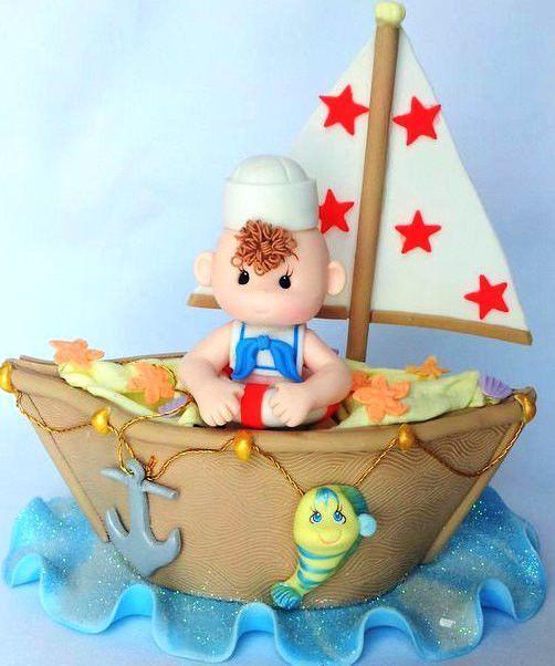 Sailor Cake Topper, Sailor Decoration, Sail Boat, Ahoy Its A Boy, Nautical