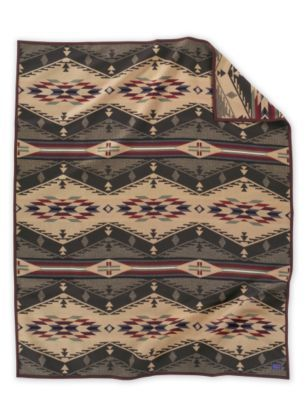 Our new Pendleton blanket has arrived.  We're using it as the centerpiece of our Western inspired master bedroom.  The company photo doesn't do the spread justice.  Beautifully woven and suede bindings...so much nicer to sleep under than a comforter and it drapes better on the bed, too.