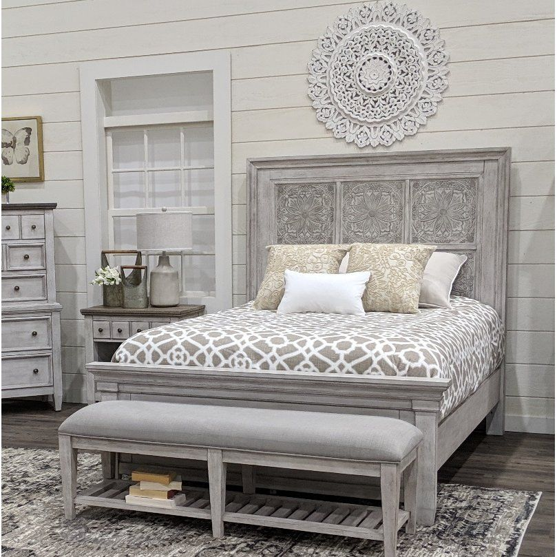 Classic Country Antique White Queen Bed - Heartland in 2019 ...