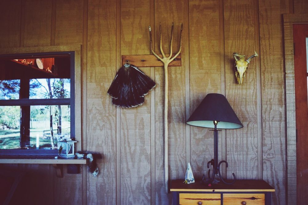 Cabin Life! Wood porch decoration....  Besides the quiet introspection this wild setting brings about, your consciousness begins to balance itself out naturally.  Once your mind has gone through the flow of releasing tucked away thoughts, it actually experiences stillness.  It's in this place that you become aware of the present. Finally able to drown out the constant 25% or more of blah blah that runs through your brain, a sizable barrier to staying present.