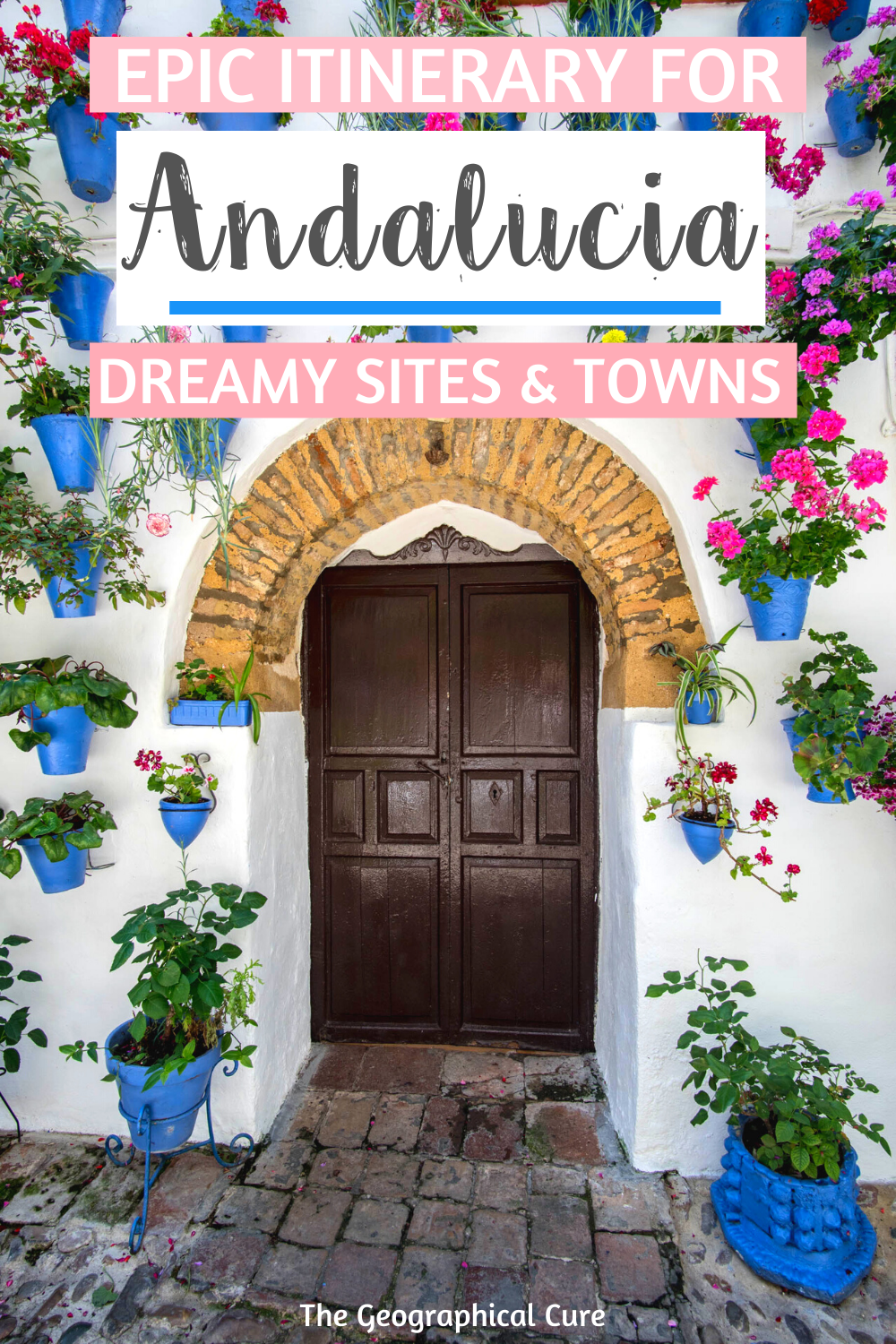 Planning a trip to sunny Andalucia? Here's the perfect 10 day road trip itinerary. You'll visit all the best sites in southern Spain -- ancient mosques turned into churches, ornate palaces, soaring Gothic cathedrals, and white pueblo towns. From Seville to Granada, here are the best things to see and do on a visit to Andalucia in southern Spain. You'll visit all the must see sites and hidden gems in southern Spain. #Andalusia #Seville #Granada #Cordoba #Spain #ItinerariesForSpain #Alhambra