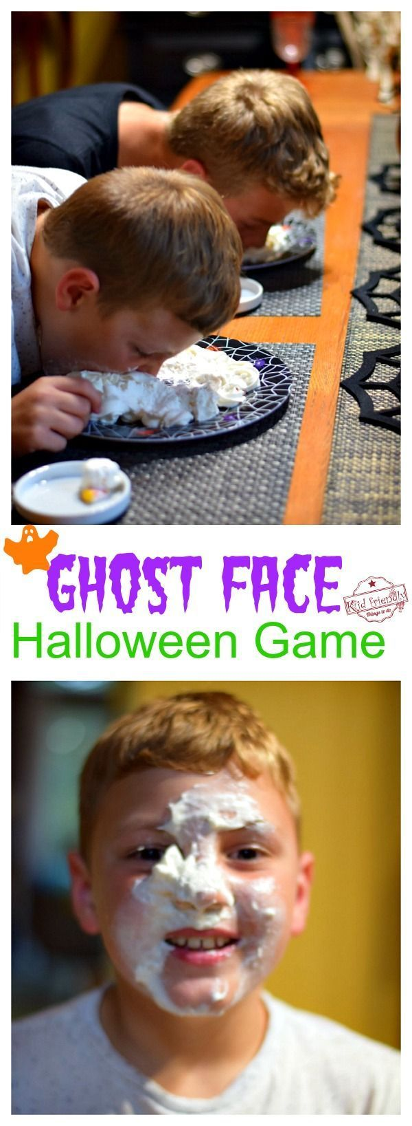 Ghost Face Halloween Game for all Ages to Play Recipe