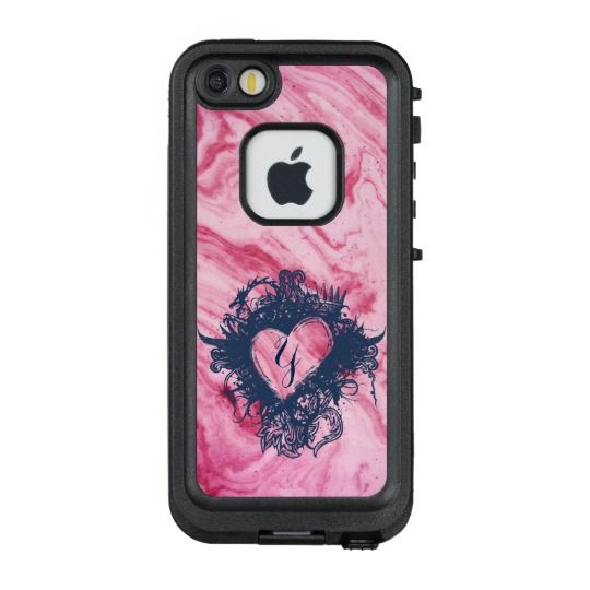 pink marble texture pattern elegant personalize lifeproof frĒ iphone