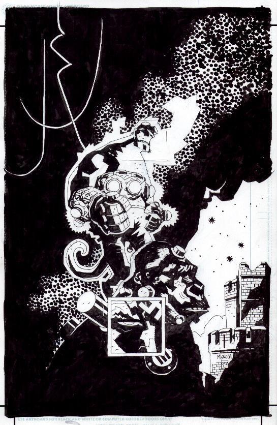 Hellboy (unused cover) by Mike Mignola