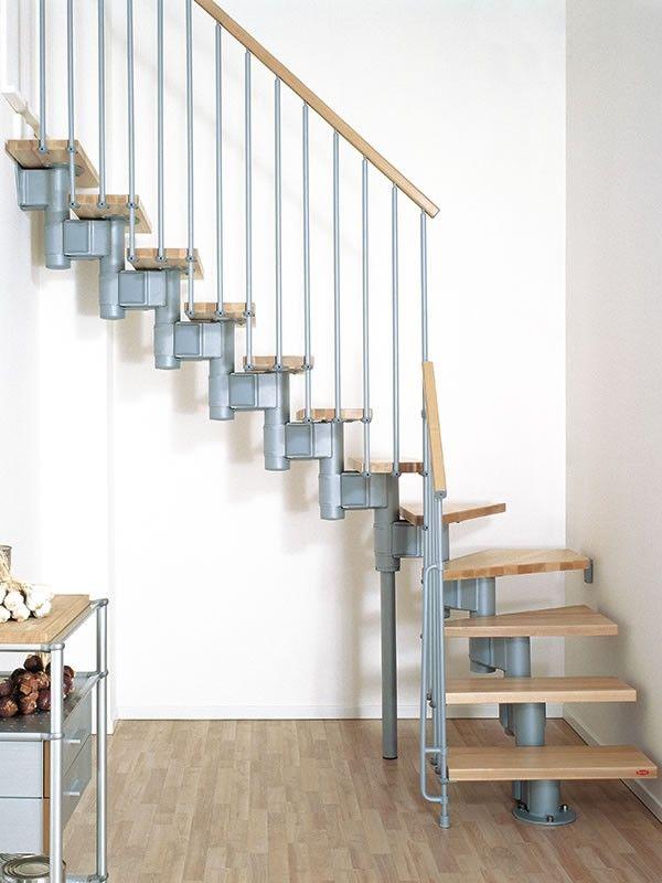 Best Escalera De Rampa En Kit Oak 90 Acero Y Madera Maciza 640 x 480