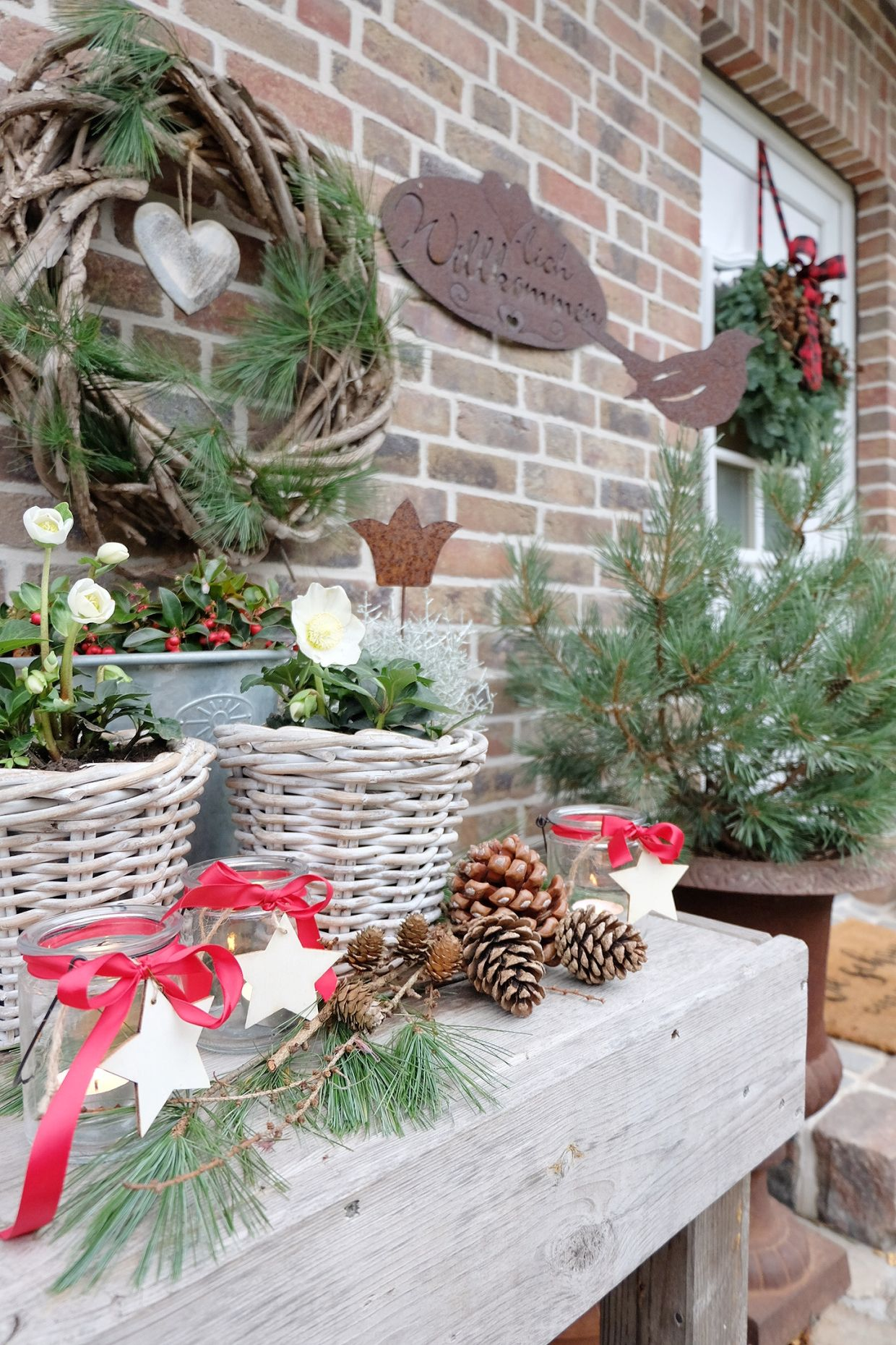 Winterlich Dekorieren Im Garten Unser Garten Wird Winterfest Holiday Decor Christmas Wreaths Decor
