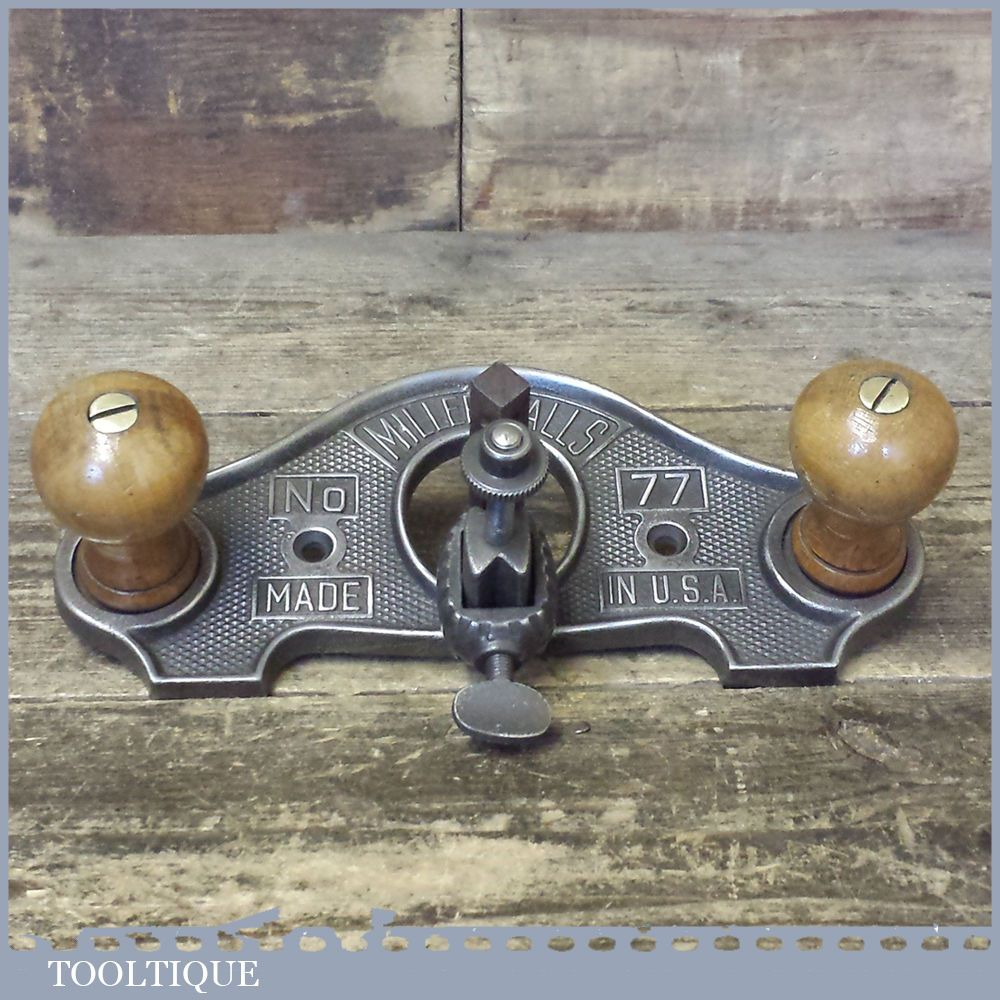 Vintage Miller Falls USA No: 77 Closed Throat Hand Router