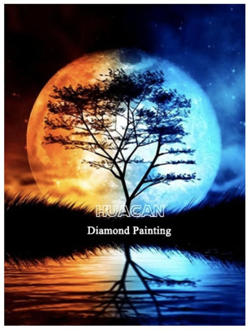 5D DIY Diamond Painting Moon Embroidery Art Kits Home Decoration with Full Square Diamond Kit