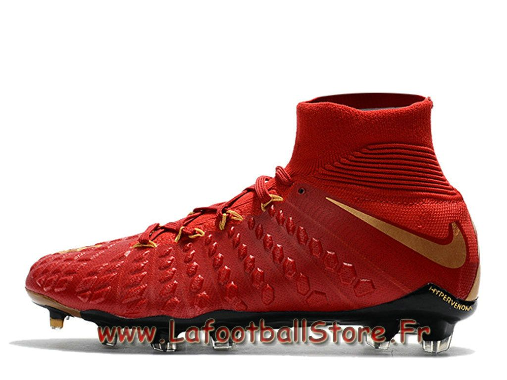 buy online fa1bd f820e Nike Hypervenom Phantom 3 DF FG Chaussure de football à crampons pour  terrain sec pour Homme Rouge Or