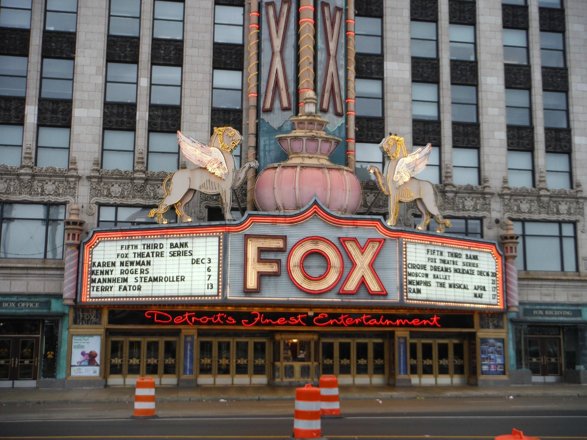 Fox Theater Detroit Mi Detroit Rock City Detroit Theatre