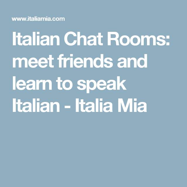 Chat rooms to meet friends