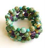 @Donnabeads Faceted Amethyst, Turquoise & Vermeil Wrap Bracelet