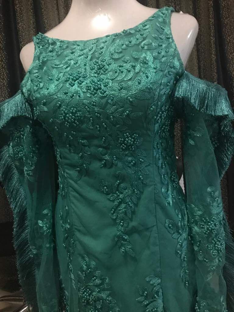 Green sleeveless native party dress for women Casadelamo is an ...