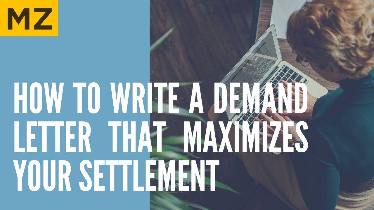 Settlement Offer Letter Template Inspirational Sample Demand Letter In Car Truck Accident Case In 2020 Letter Templates Lettering Word Template