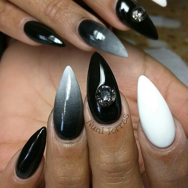 Stiletto Nails Kortenstein With Images Nails Black Ombre
