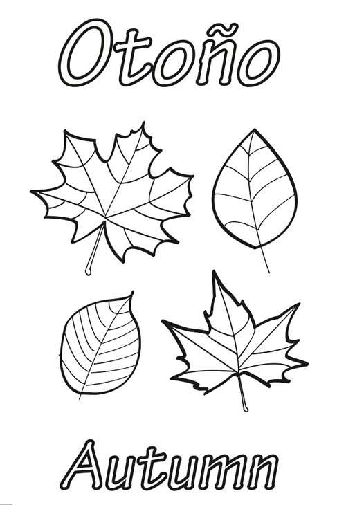 Hojas De Otono Para Colorear Homeschool Pinterest Autumn