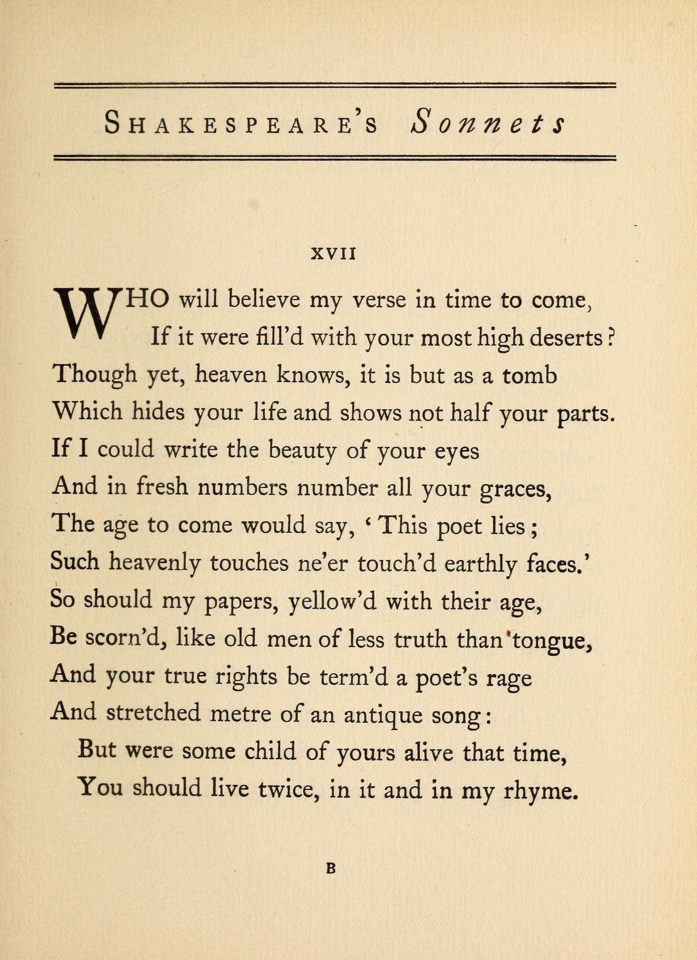 Shakespeare S Sonnets Shakespeare William