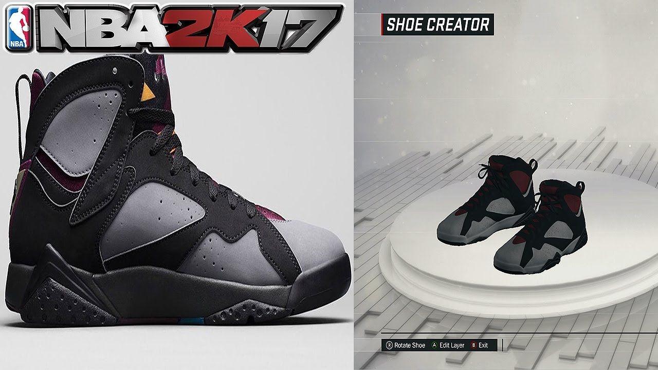 NBA 2K17 Shoe Creator Air Jordan 7 Bordeaux