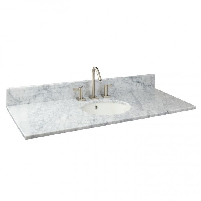 49 X 22 Marble Vanity Top With Undermount Sink Bathroom
