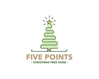 Five Points X Mas Tree Farm By Samdemastrie Farm Logo Design Farm Logo Tree Farms