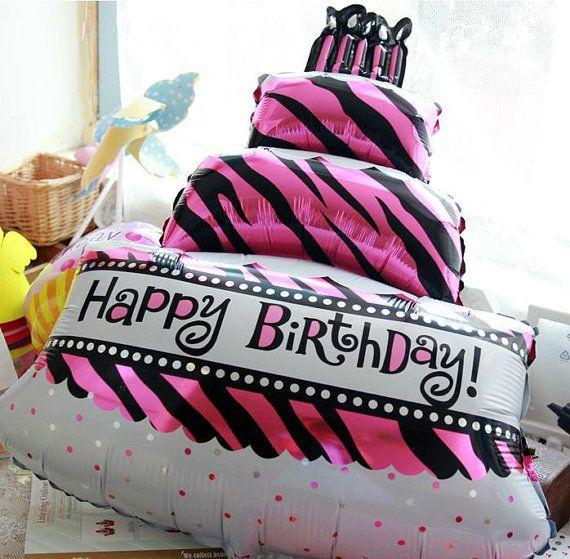 1pc Huge Big Three Tier Birthday Cake Aluminum Foil Balloon Birthday