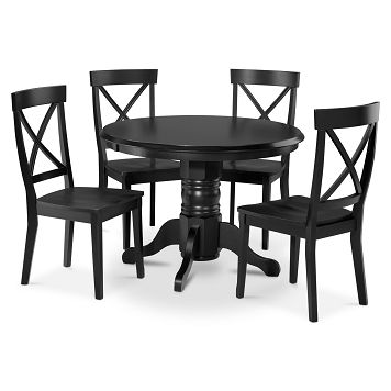 Plantation Cove Black Dining Room 5 Pc Dinette