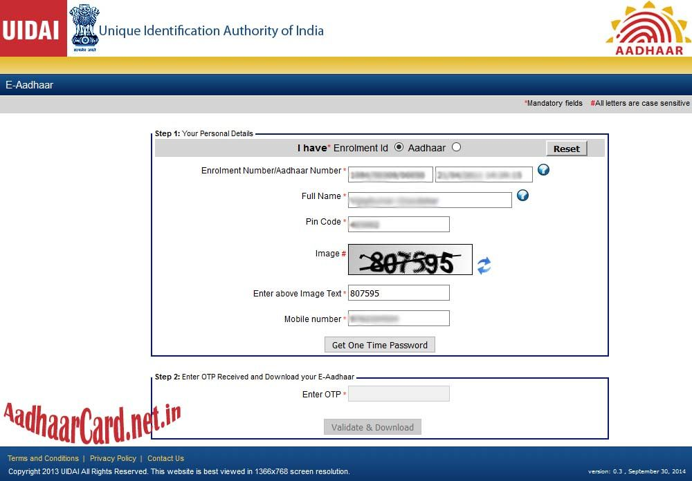 Aadhar Card Download Online Without Mobile Number With Images