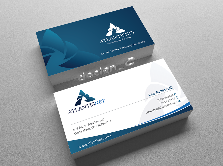 Create a modern and clean business card for a internet development ...